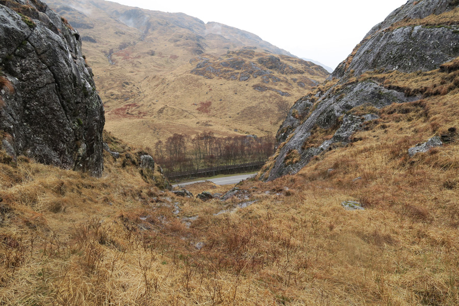 The Muidhe - looking back down from the path to the A831