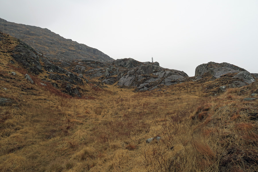 The Muidhe - walk up the hillside in the general direction of the mast