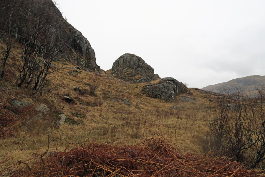The Muidhe - Looking up the path from the layby to The Muidhe