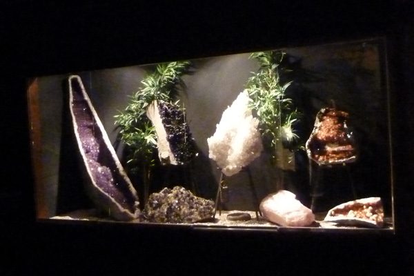 A display of geodes