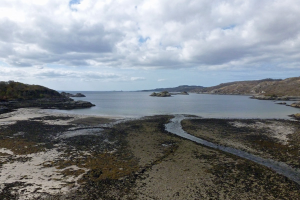 Views of Loch nan Uamh, a site of sea battles and Jacobite history..