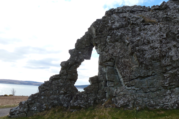 The Wishing Stone as seen from Lochaline