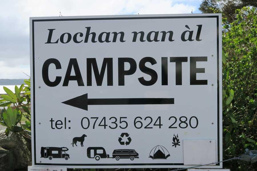Lochan nan al Campsite