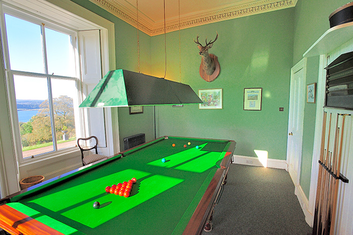 Drimnin House - Snooker room