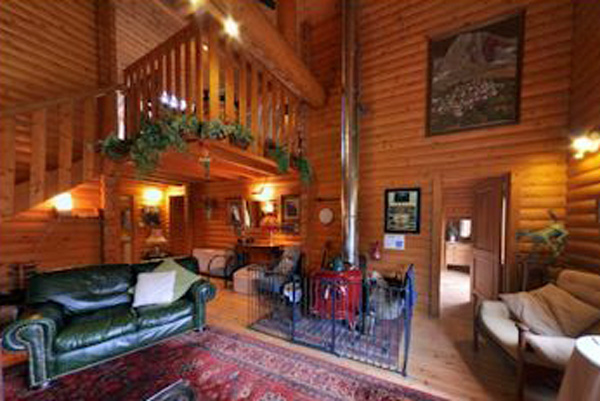 The Logs - sitting room with wood burner
