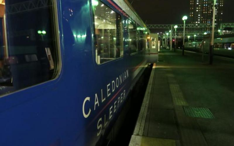 The Caledonian Sleeper departing from London Euston