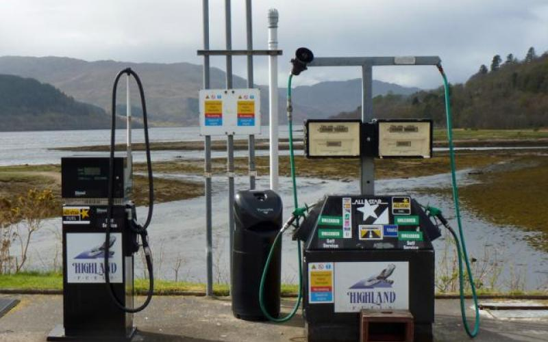The Filling station at Strontian in Sunart