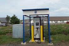 EVOLT Rapid Charger in Monadh Mor Car park in Fionnphort