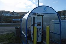 Electric Vehicle Rapid Charger in West Bay Car Park, Mallaig