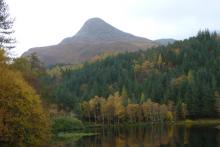 The Pap of Glencoe seen from the Glencoe Lochans