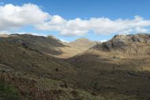 Looking towards Sgurr Dhomhnuill for the Bellsgrove lead mines