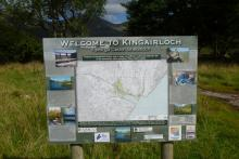 Map and interpretation board in the car park area