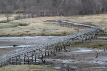 Jubilee Bridge constructed 1898