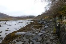 The Silver Walk path gets quite close to Loch Moidart