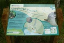 The interpretation board at Allt Mhuic