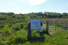 The entrance to Shian Wood, a Scottish Wildlife Trust Reserve