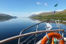 Heading off down Loch Linnhe on The Souters Lass