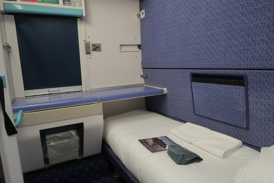 The Caledonian Sleeper - a fist class sleeping berth