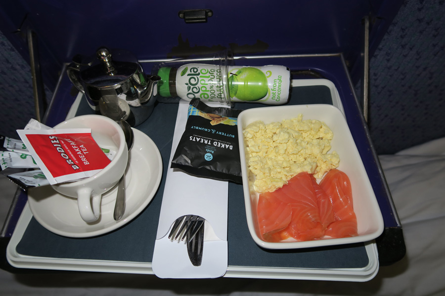 The Caledonian Sleeper - smoked salmon and scrambled eggs
