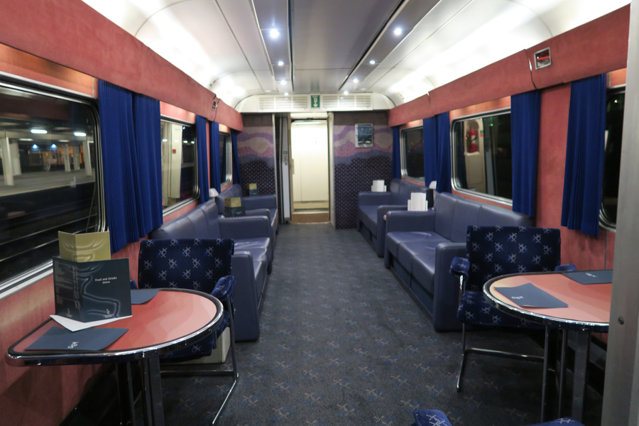 The Caledonian Sleeper - the dining car from Euston