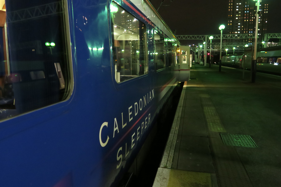 The Caledonian Sleeper - Euston Station at night