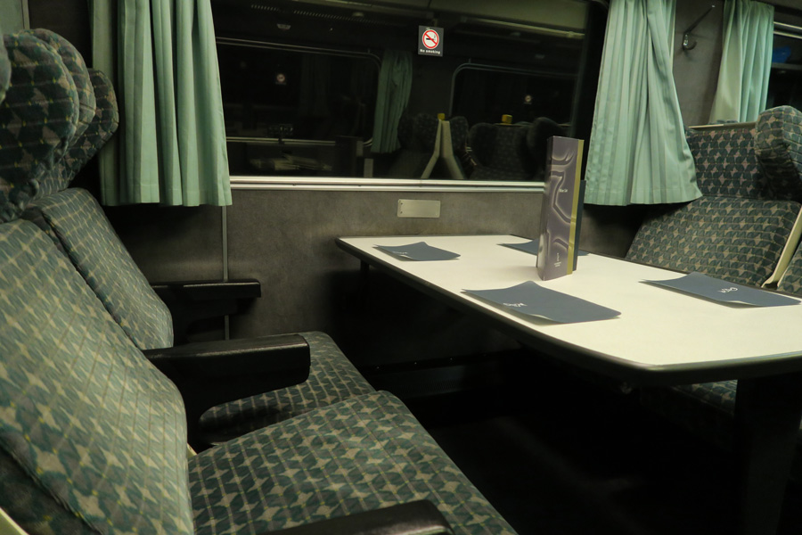 The Caledonian Sleeper - the dining car for Fort William evening departures