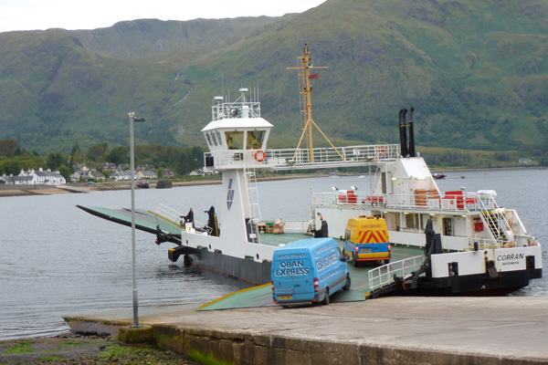Corran Ferry departing from Nether Lochaber