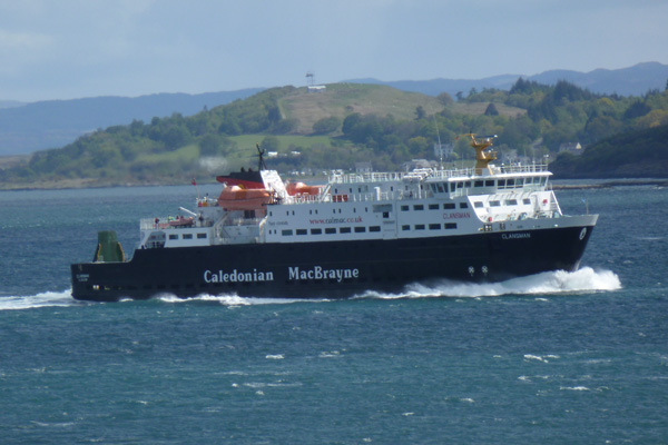 A ferry from Oban to The Outer Hebridies