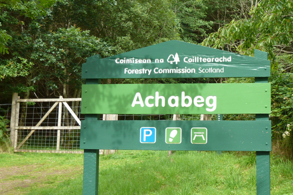 Achabeg Forestry Commision walks