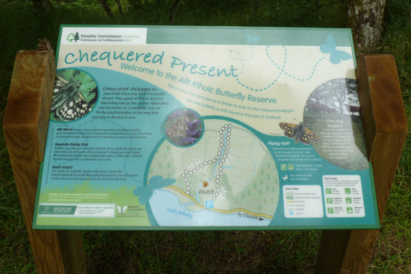 Allt Mhuic interpretation board