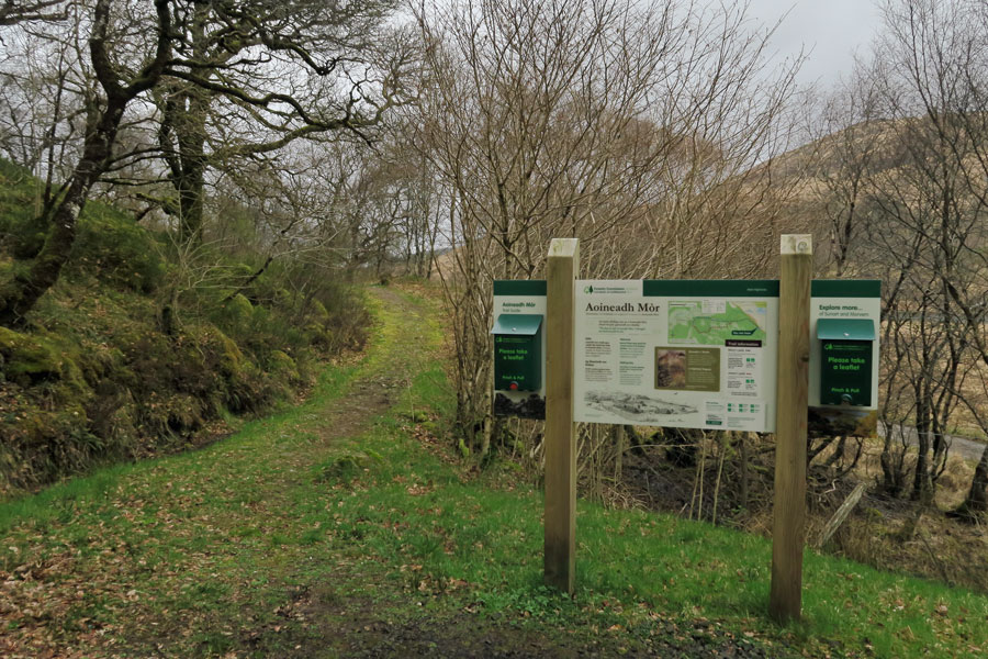 Aoineadh Mor - Interpretation board in carpark