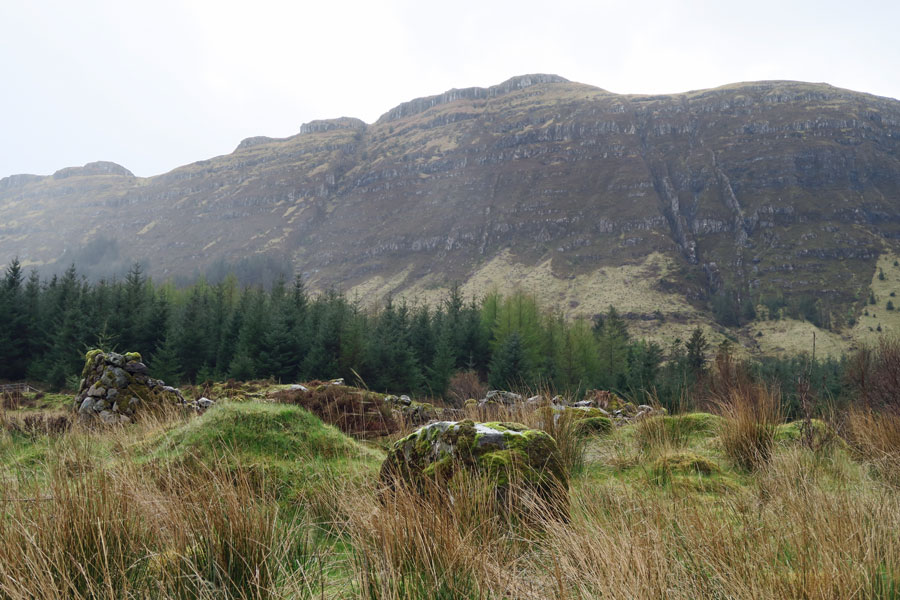 Aoineadh Mor - watch out for golden eagles on the ridge line