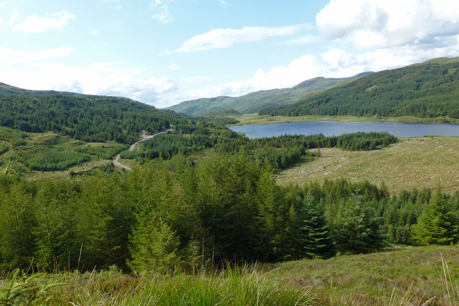 Aoineadh Mor - View to Loch Doire nam Mart in Summer