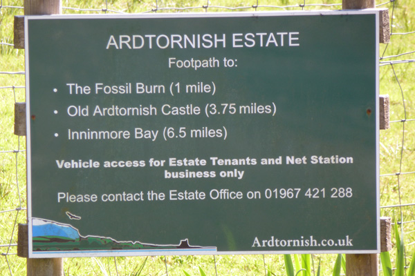 Estate sign at the start of the walk to Ardtornish Castle