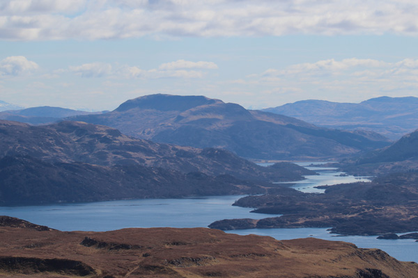 The views to Loch Sunart and Loch Teacuis