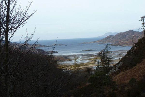 Looking back down through Loch Moidart south channel