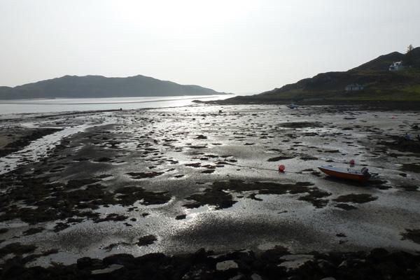 The beach near the start of the walk