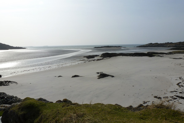 Bourblach beach at low tide