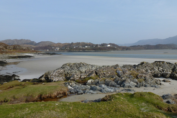 Silvery sands with Morar in the distance