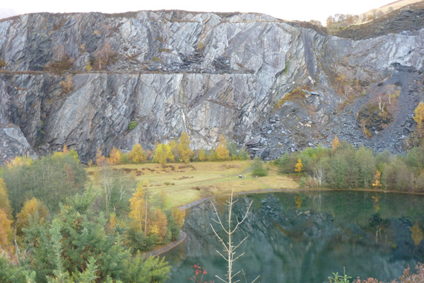 Quarry face and lochan