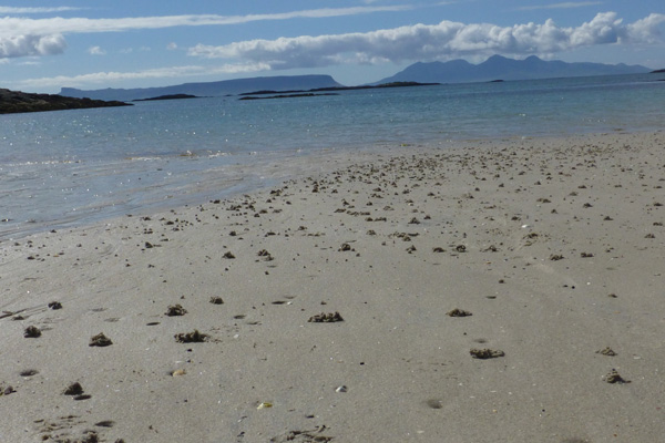 Stunning views of Eigg and Rum