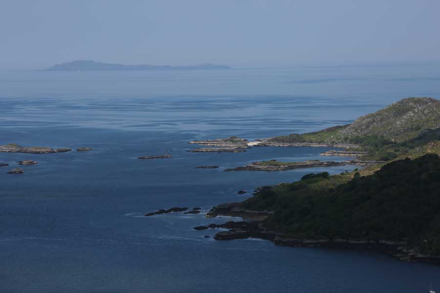 Looking out west to The Small Isles