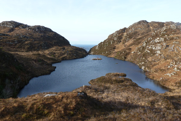 View of hill lochan