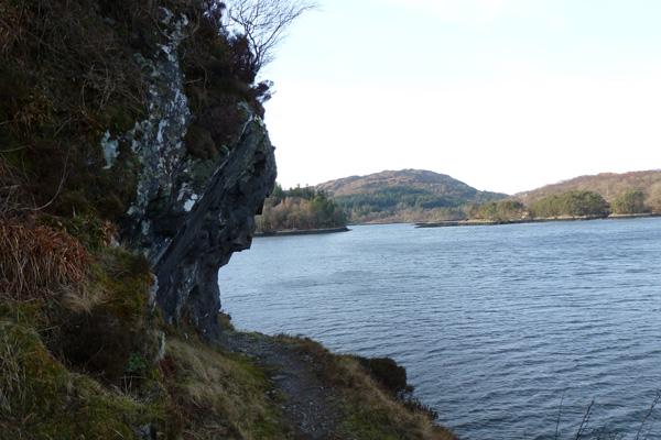 Vertiginous section on the coastal path