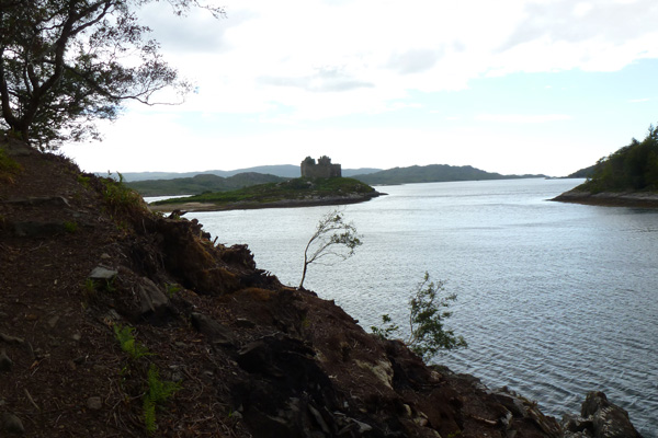 Castle Tioram seen from the coastal path