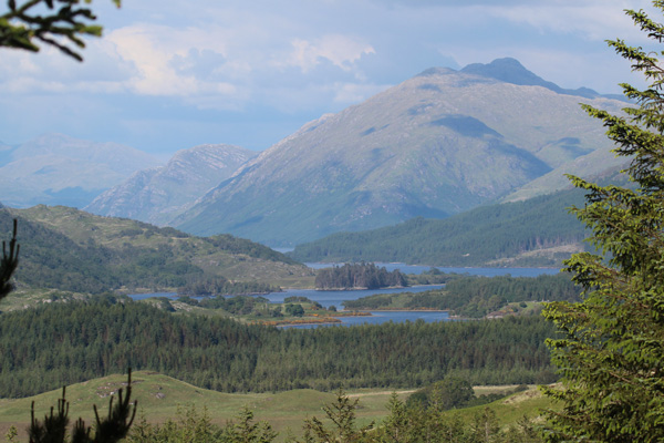 Fine views of Ben Resipole and Loch Shiel towards the end of the track