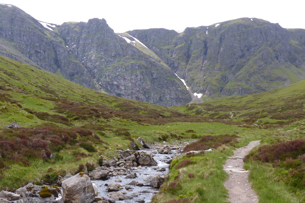 The path follows the watercourse, Allt Coire Ardair
