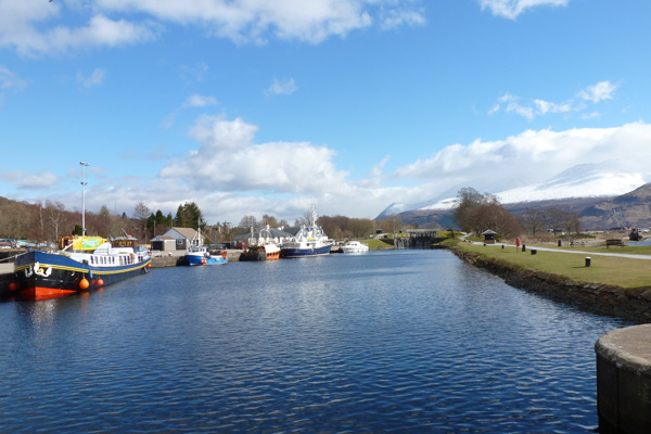 At the start of the Caledonian Canal at Corpach