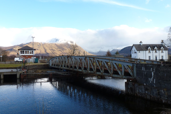 Rail bridge over the Caledonian Canal
