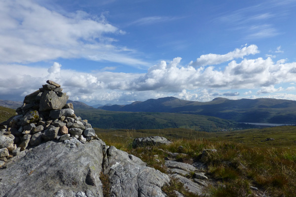 One of the cairns at the end of this walk